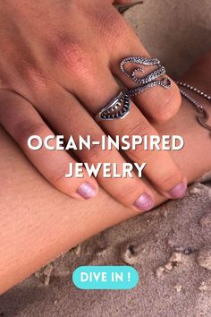 Ocean Jewelry, Silver Rings, Gifts, Accessories, Jewellery, Jewerly, Presents, Jewels, Schmuck
