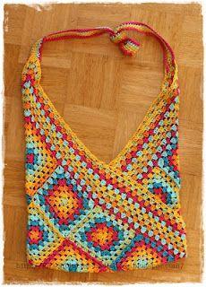 aus einer unfertigen Decke, wurde eine Tasche! / a Bag made out of an unfinished crochet project.