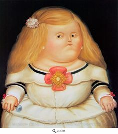 Painting Reproduction of Menina (after Velazquez), Fernando Botero