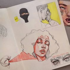 Drawing Cartoon Faces, Arte Sketchbook, Sad Art, Sketchbook Inspiration, Art Studies, Art Drawings Sketches, Cute Art, Art Inspo, Art Reference