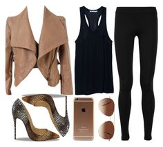 """leather & louboutin."" by pinkamby ❤ liked on Polyvore"