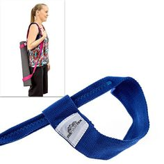 Yoga Mat Strap for carrying Yoga Mats of any kind & size. Replaces Yoga Mat bags and prevents bacteria growth (Lifetime Warranty & Money Back Guarantee Included) - FiveFourTen - Blue