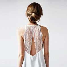 back details. lace back dress