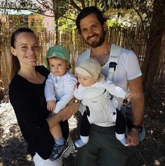 Prince Carl Philip of Sweden with wife Sofia and sons Alexander & Gabriel