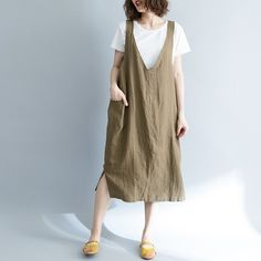 Floral Print Maxi Dress, Color Khaki, Linen Dresses, Cotton Style, Spaghetti, Dress Brands, Types Of Sleeves, Dress Outfits, Dresser