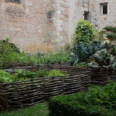 Wattle garden fence in St-Étienne, France.