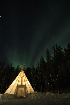 #BeAdventurous and spend a few nights under the magnificent northern lights in a teepee at Aurora Village!