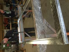 Galvanised door frame