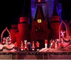 A Guide to the Magic Kingdom Christmas Stage Show Celebrate the Season Magic Kingdom Christmas, Magic Kingdom Orlando, Christmas Stage Design, Classic Disney Characters, Stage Show, Cinderella Castle, Disney Vacations, Walt Disney World, Road Trip