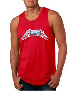 Men's Tank Top Merica Graphic America Top  #tanktop #merica #american #metallica #menswear
