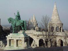 Budapest | St.Stephen's statue with the Fishermen's Bastion. Fb https://www.facebook.com/BudapestPocketGuide  credit: isalella #budapest