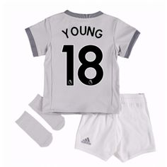 84d2f6b6187 Manchester United Ashley Young 18 Tredjedraktsett Barn 17-18 Kortermet   Billige  Fotballdrakter