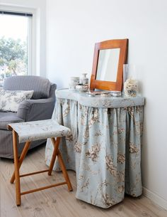 Small dressing table in the bedroom