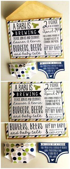 Baby shower invitation: Boy  Hello SunSHINE Designs on Etsy