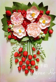 Quilling /rose /orchid Quilling Craft, Quilling Flowers, Quilling Ideas, Paper Quilling, Big Paper Flowers, Diy Flowers, Origami, Diy And Crafts, Paper Crafts