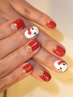 Hello Kitty nails!