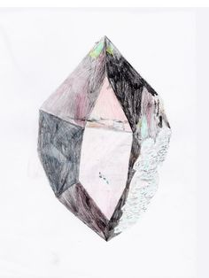 Cat Lauigan | cave collective | crystal quartz drawing in graphite and color pencil