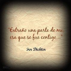 Frases hermosas de Fer Dichter para dedicarte y dedicar... - Taringa!