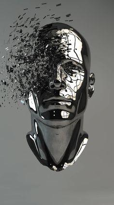 Tech Discover Saatchi Art is pleased to offer the artwork & by Grégoire A Meyer. Photografy Art, Tatoo 3d, Sculpture Art, Sculptures, Vaporwave Art, Technology Wallpaper, Robot Art, Surreal Art, Dark Art
