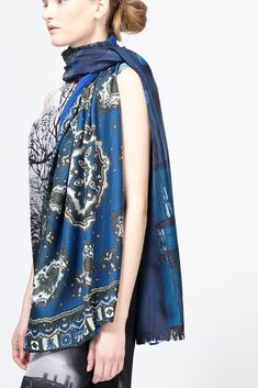 Pierre Louis Mascia Silk Scarf (Blue Multi)