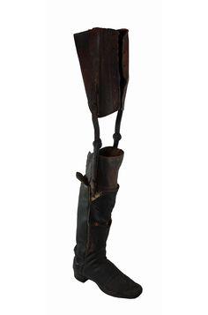 Image detail for -Civil War Era Prosthetic Leg, stamped:
