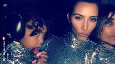 Kim Kardashian and Her Mini-Me North West Were Twinning for the Kanye Concert