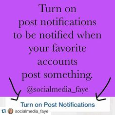 Some of us don't have time to scroll through all of the posts on our feed. So if you are one of those people make sure to enable post notifications on accounts that you really like. That way you will never miss a post again.  If anyone needs help with this let me know!  #marketing #marketingtips #marketingadvice #smm #socialmedia #socialmediamarketing #socialmediatip #marketingtips #marketingtips #business #content #contentmarketing #b2b #quote #quotes #quoteoftheday #socialmedialife…