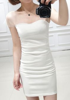 For a one-stop glam shop, look no further than this dress. Look sharp in this killer white bodycon dress featuring sweetheart neckline and s...
