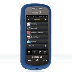 Premium Soft DARK BLUE Durable Rubber Silicone Skin Case for Samsung Instinct S30 (Wireless Phone Accessory)