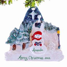 Pesonalized Christmas ornament  snowman by Christmaskeeper on Etsy, $13.95