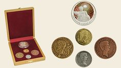"""Repliky rímskych mincí """"2000.výročiu úmrtia rímskeho cisára Augusta"""""""