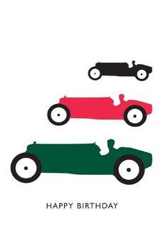 Happy Birthday - Racing Cars