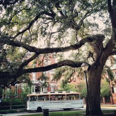 Columbia Square in Savannah - see the Kehoe House and the Davenport House Museum here!