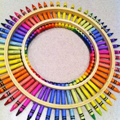 Home-Dzine - Make a colourful crayon wreath .... Let your children make this!