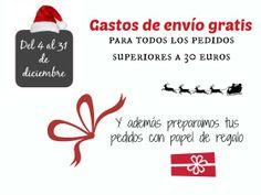 En diciembre, gastos de envío gratis para pedidos superiores a 30€ www.quiquilo.es
