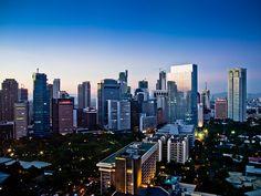 Manila, Philippines Skyline at dusk.