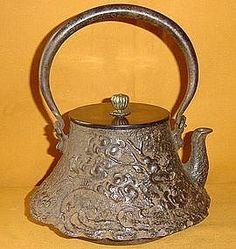 Ascending Dragon-Cloud Tea Ceremony antique kettle