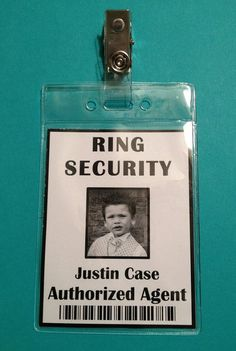 Ring Security Badge  Ring Bearer  Ring Security by Grammy2Noah. , via Etsy.