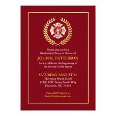 Firefighter Graduation | Retirement Invitation