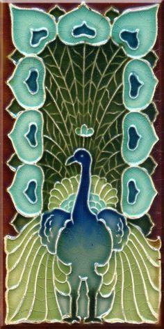 Art Nouveau Reproduction 3 X 6 Inches Ceramic Wall Tile #2