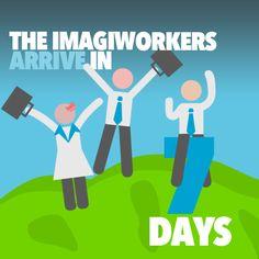 The ImagiWorkers arrive in 7 days.. #smallbusiness #marketing #appdevelopment #graphicdesign #socialmedia #melbourne #marketingconsultants #marketingmelbourne #smallbusinessmarketing #logodesign #websitedesign #html5 #creativity #imagination #design #apps #appdevelopers