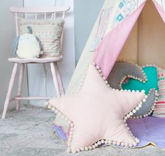 Детская комната украшения подушки creative cloud звезда луна форма серии подушки…