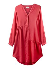 Silk from east.co Pin Tucks, Smocking, Tunic Tops, Silk, My Style, Sweaters, Shirts, Clothes, Dresses