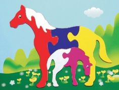Puzzled Fun Puzzle - Horses Wooden Toys