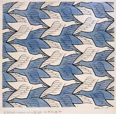 Law of Common Fate: in this picture we see  blue and white birds moving in the same direction. Blues going to the left and whites going to right so we see them a unit by its color... http://blog.albumepoca.com/gestalt-e-grafica-il-valore-della-percezione-dello-spazio/?lang=en