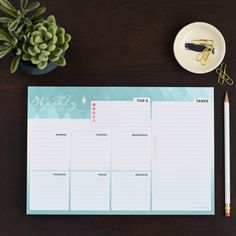 - DESCRIPTION - FEATURES - SPECIFICATIONS The Weekly Kickstart organizational notepad from inkWELL Press is designed to get you organized for your week and help streamline your planning. These are per