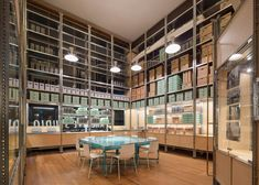 Jonathan Tuckey Design has created an archival space for London's Southbank Centre featuring a shelving system that reflects the building's heritage