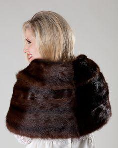 Vintage 1950s Mink Fur Stole Wedding Wrap