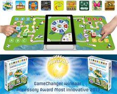 iPad Game Changer (Dutch). Genomineerd voor speelgoed van het jaar 2012. Maakt ouderwets gezellige bordspellen nóg leuker! Ipad