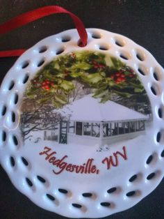 Hedgesville, West Virginia, Town Spring ornament.